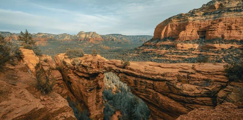 Rock and mountain view at Sedona in Arizona