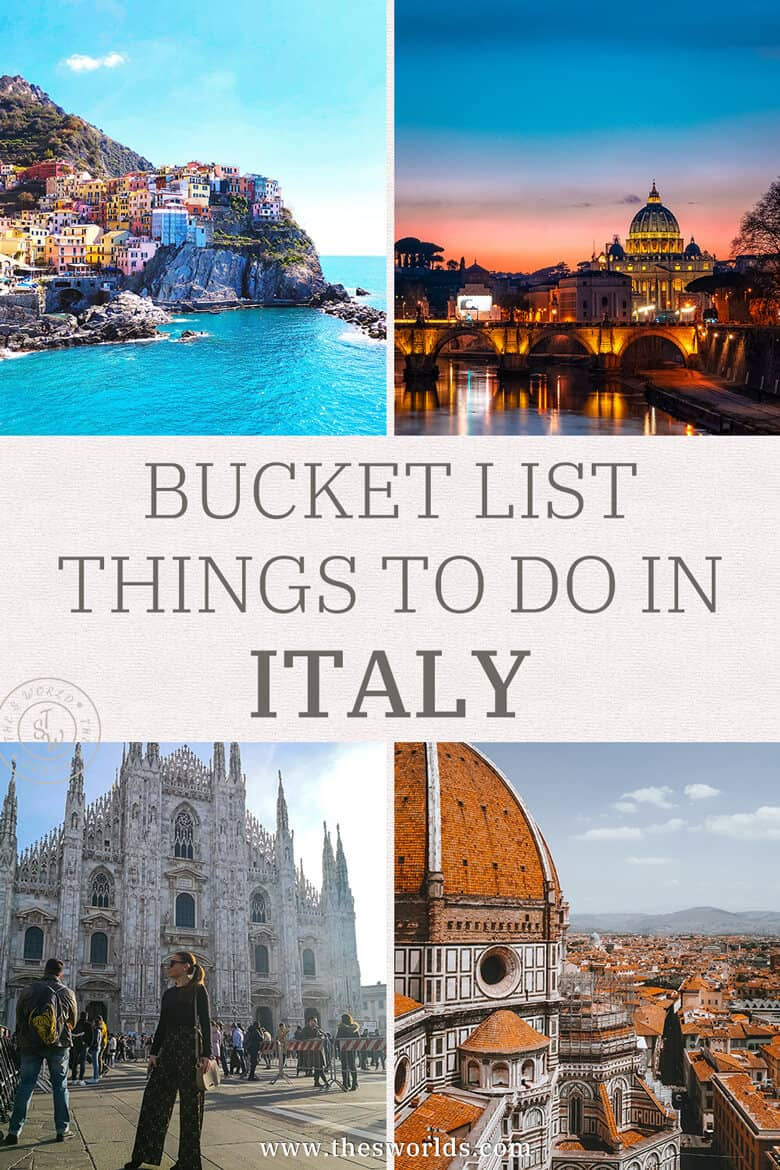 Bucket list things to do in Italy