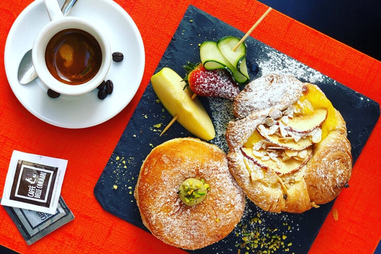 Pastry and Coffee at Caffe Delle Commari