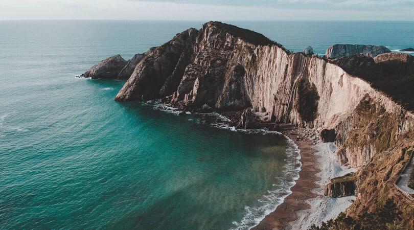 Cliff next to a Beach