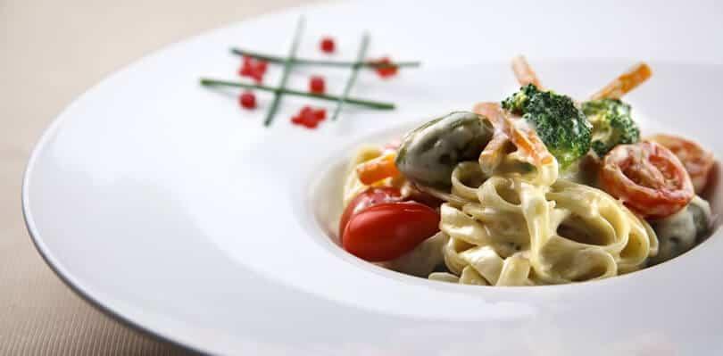 Pasta in Frans restaurant Belgrade