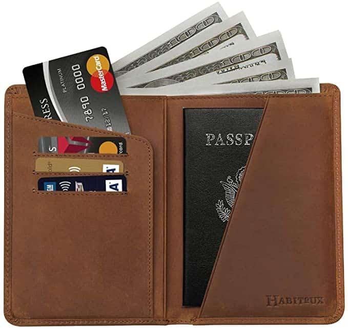Habitoux rfid blocking Travel wallet