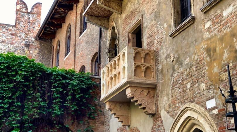 Juliet Balcony in Italy