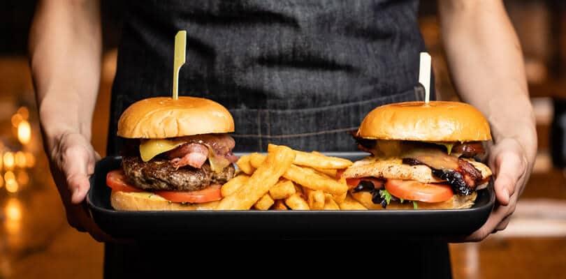 Burger with fries at Lambiczoon Burger