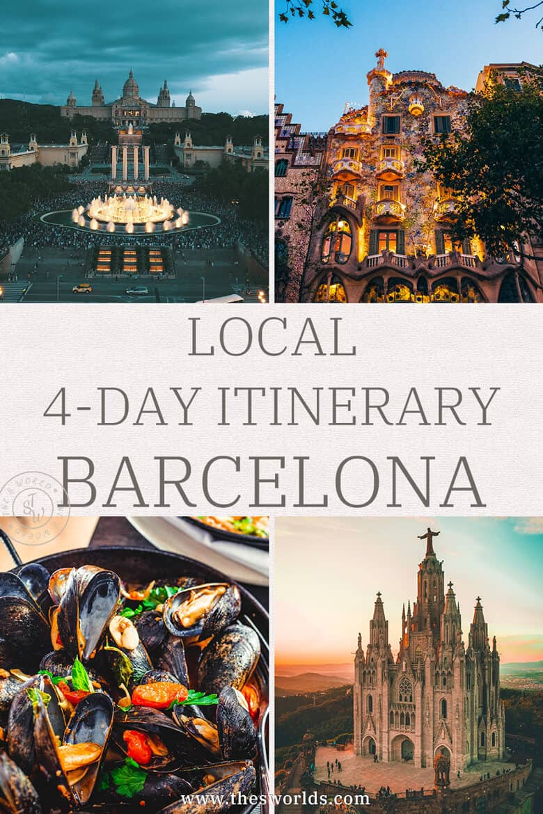 Local 4 day Itinerary Barcelona