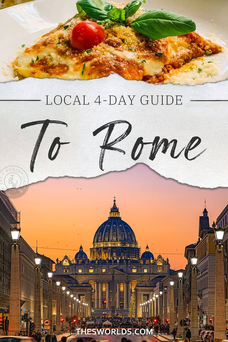 Local 4 day guide to Rome