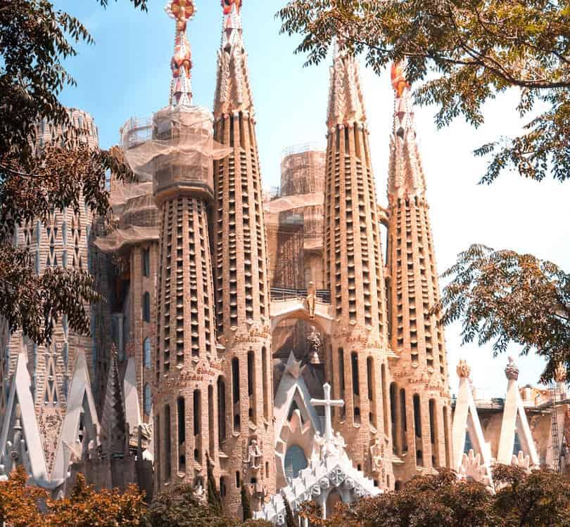 Outside of La Sagrada Familia Barcelona