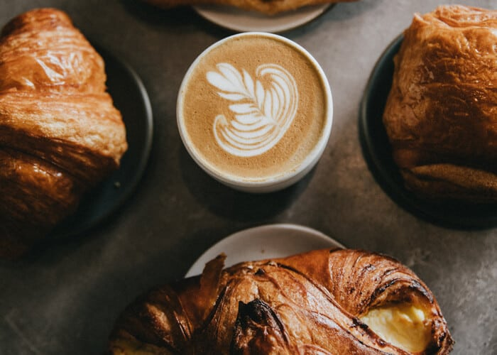 Pastry products with coffee