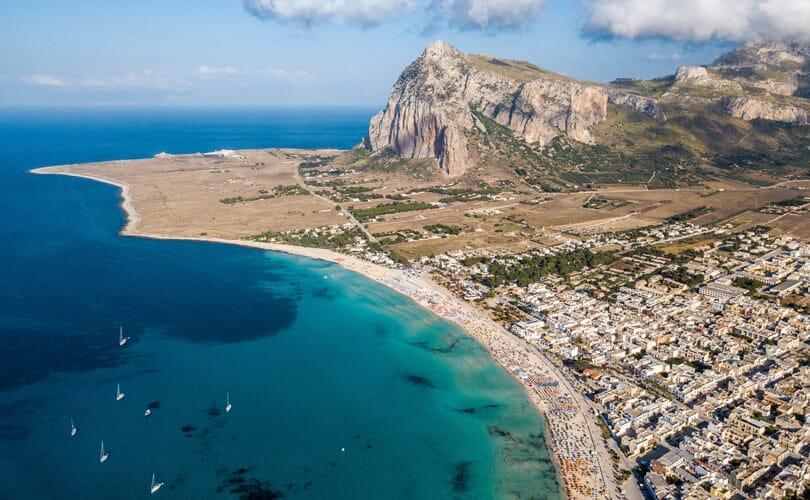 San Vito lo Capo beach in Sicily