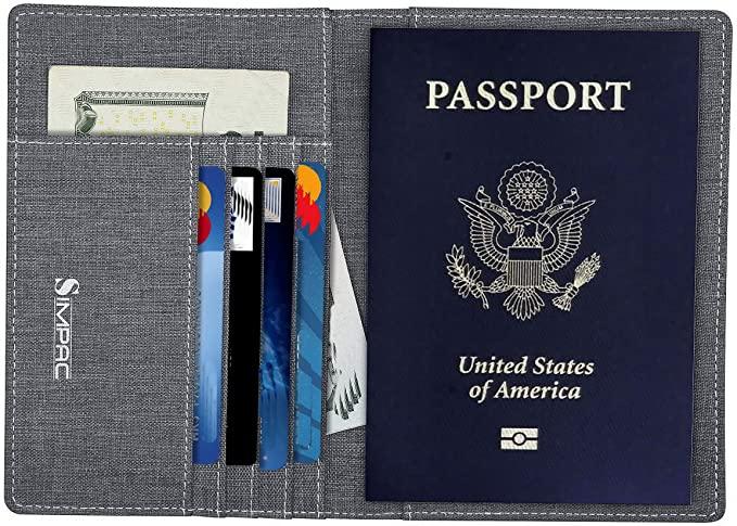 Grey Simpacx Fabric passport holder