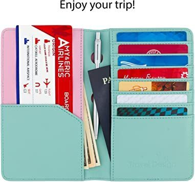 Turquoise Travel design all in one travel wallet