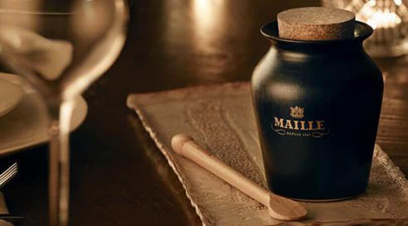 Black bottle Maille mustard