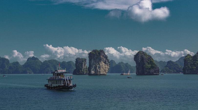 Boats at Ha Long Bay Vietnam