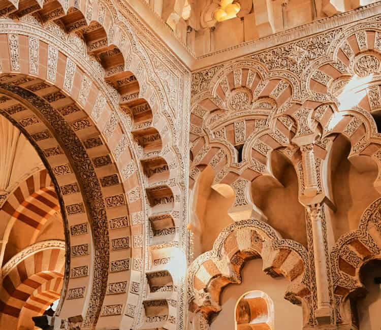Inside view of a building in Cordoba, Spain
