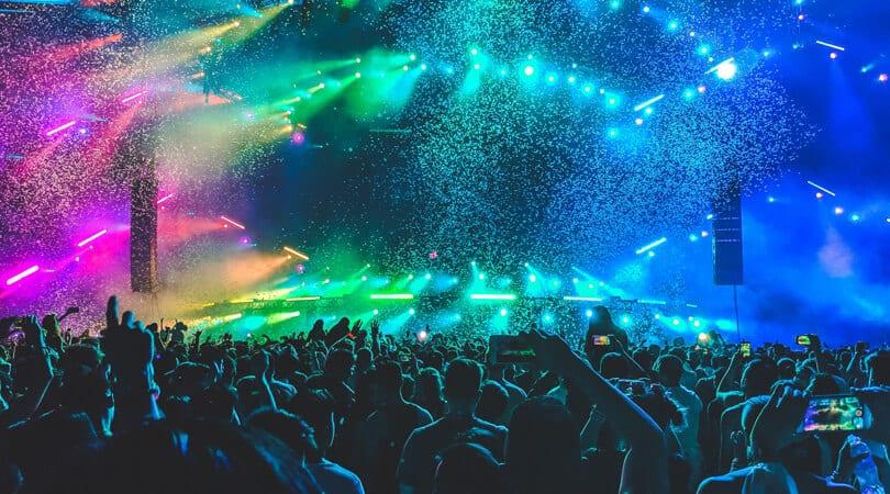 Ibiza party lights