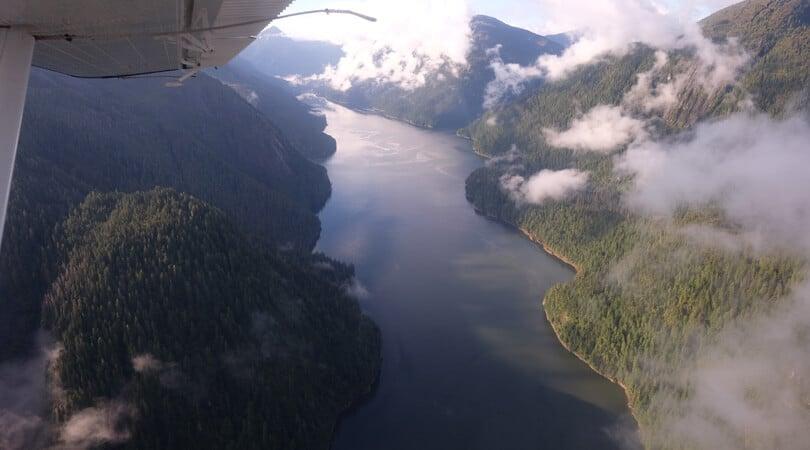 Air view of Kenai Fjrods in Alaska