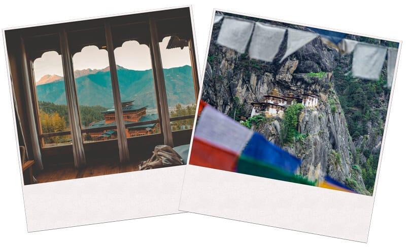 Pictures of Monasteries in Bhutan