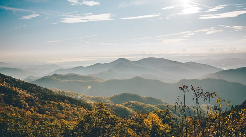 View of Smoky Mountain in Tennesse