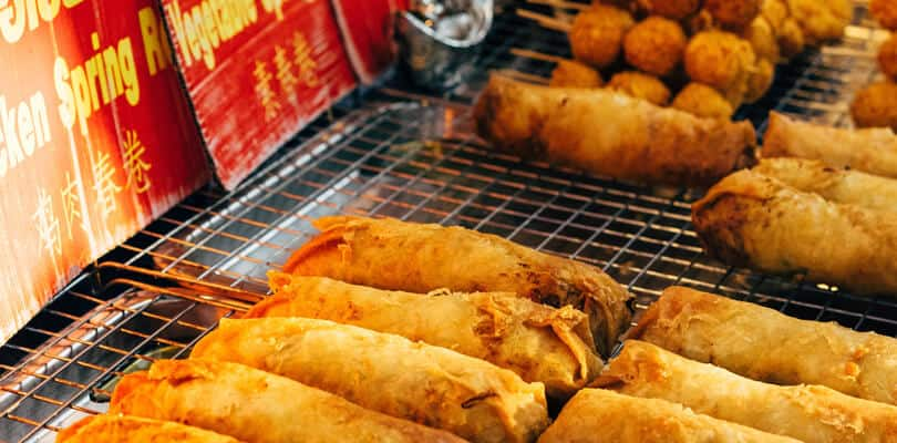 Spring rolls Vietnam street food