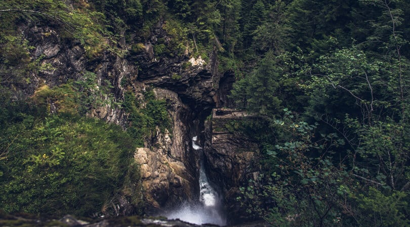 Waterfall at The Pyrenees Spain