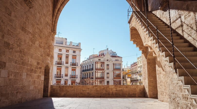 Valencia Old town Spain