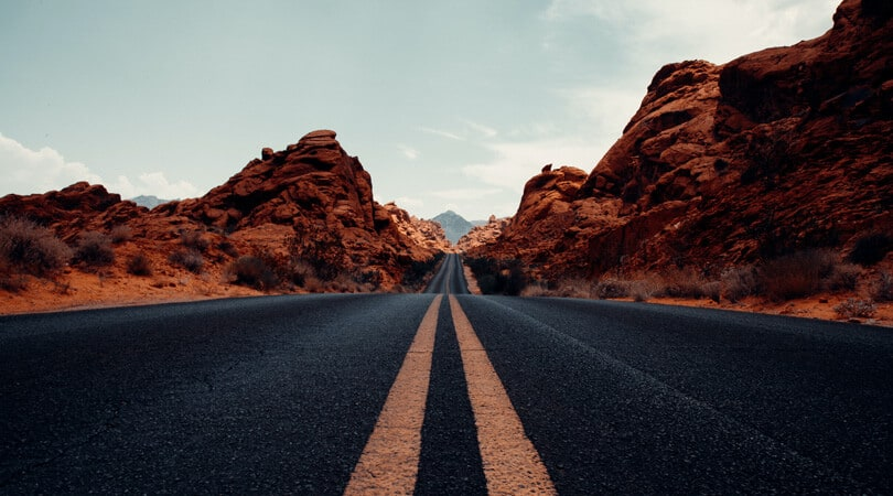 Road at Valley of Fire in Nevada