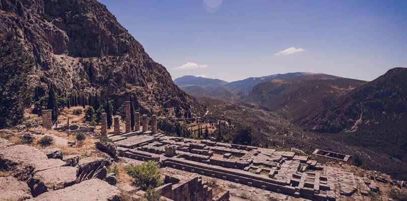 Deplhi Greece Ruins