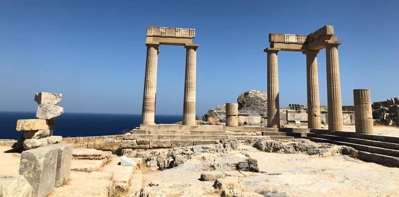 Ruins in Rhodes in Greece