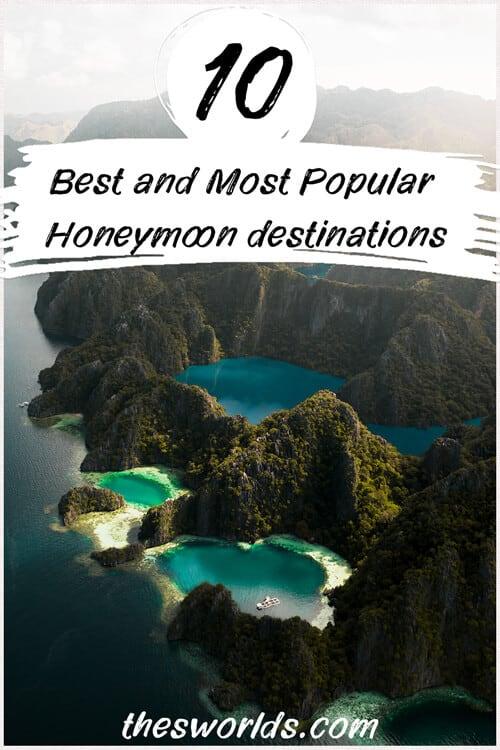 Ten most popular honeymoon destinations