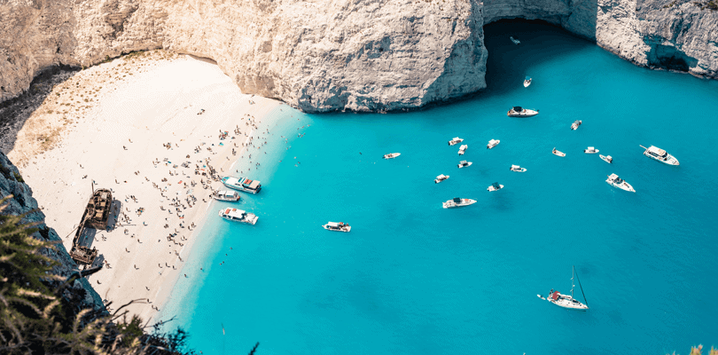Shipwreck at Zakyntos in Greece