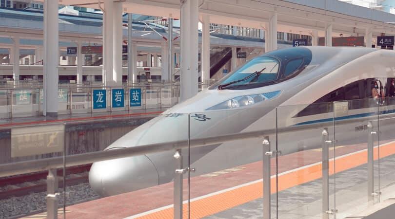 Bullet train at Station in Japan