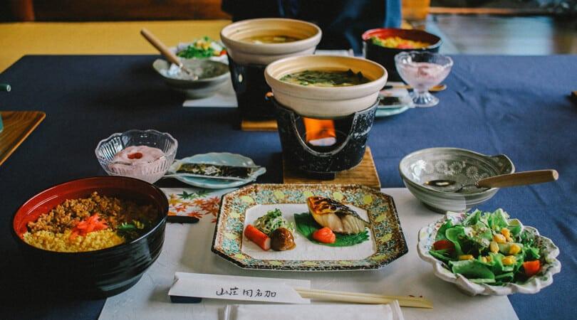Food at ryokan Japan