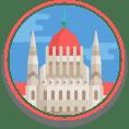 Hungarian parliament Illustration