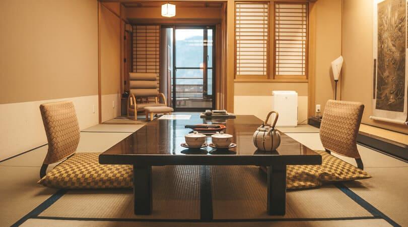 Inside of Ryokan in japan