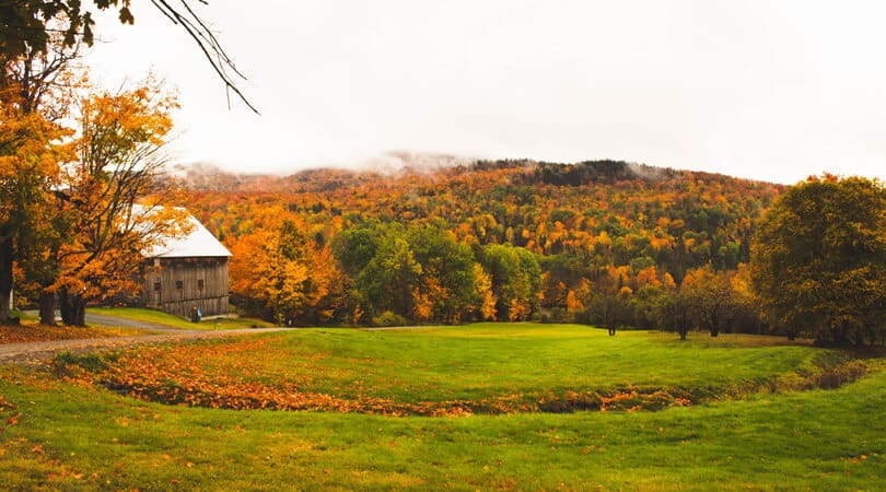 Burlington Vermont in Fall