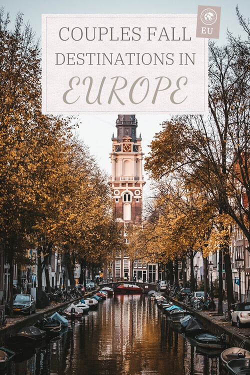 Couples fall destinations in Europe