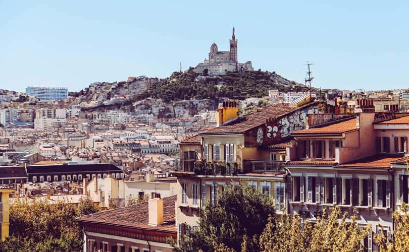 Marseille city view