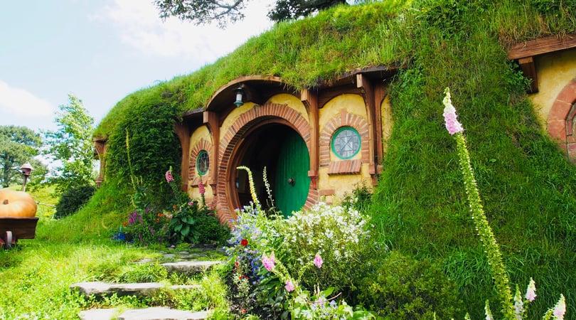 Hobbit motel covered in grass