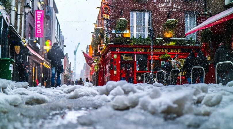 Dublin in winter