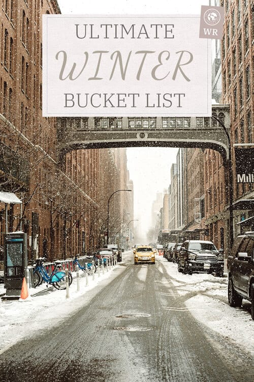 Ultimate winter bucket list