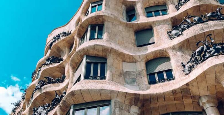 Outside view of building in Barcelona