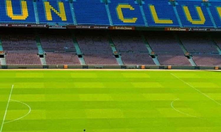 Empty camp nou stadium in Barcelona