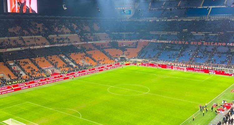 Watching football match at San Siro in Milan