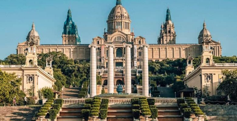 Entrance to Montjuic in Barcelona