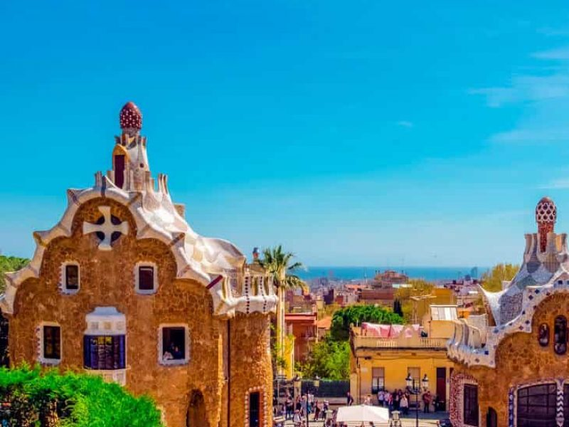 People at Park Guell in Barcelona